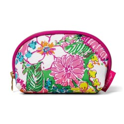 Lilly Pulitzer Nosey Posie Print Round Top Travel Clutch