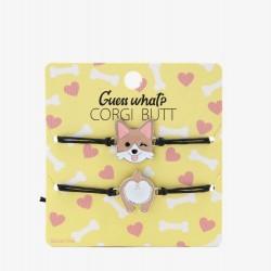 Corgi Butt Best Friend Cord Bracelet Set
