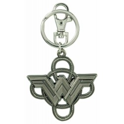 Wonder Woman Logo with Lasso Metal Pewter Keyring Keychain