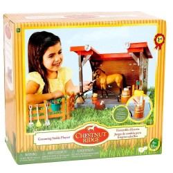 Chestnut Ridge Grooming Horse Stable Playset