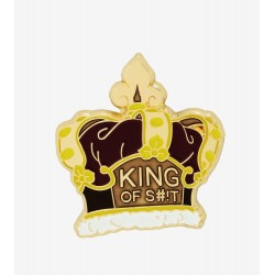 Rick and Morty King of Shit Enamel Pin