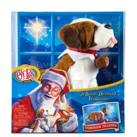 The Elf on the Shelf Elf Pets A Saint Bernard Tradition Story Book and Plush