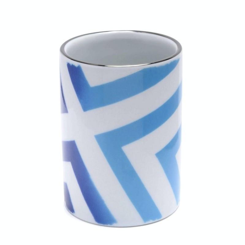 Christian Lacroic Sol Y Sombra Sunrise Blue Porcelain Pen Pot