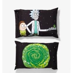 Rick and Morty Portal Gun Pillowcase Set