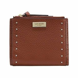 Kate Spade New York Malea West Street Port Brown Leather Small Wallet