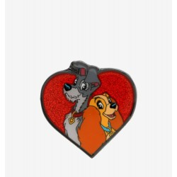 Loungefly Disney Lady and the Tramp Glitter Heart Enamel Pin