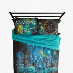 Harry Potter Hogwarts My Home Galaxy Pillowcase Set