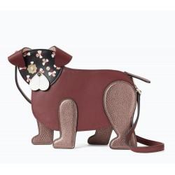 Kate Spade New York Floral Pup Dog Crossbody Bag