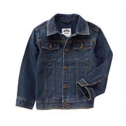 Gymboree Boys Denim Blue Button-up Jeans Jacket Size XS (4)