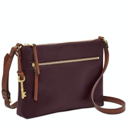 Fossil Fiona Fig Small Leather Crossbody Handbag Bag