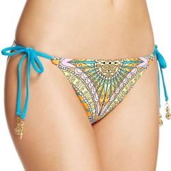 Trina Turk Women Capri Paisley Tie Side Hipster Bikini Swim Bottom Size 4