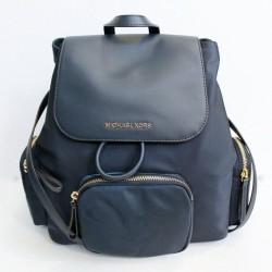 Michael Michael Kors Large Abbey Cargo Nylon Drawstring Navy Backpack Bag