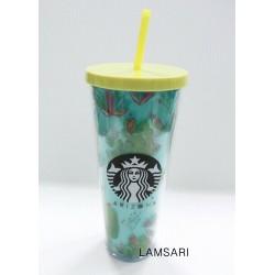 Starbucks Arizona Cactus Acrylic Cold Cup Tumbler 24 Fl Oz