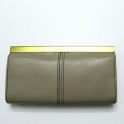 Fossil Women Kayla Leather Light Taupe Clutch Wallet
