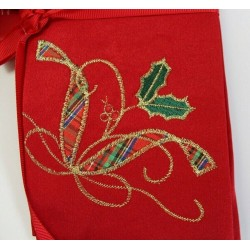 Lenox Holiday Nouveau Embroidered Red Napkins Set of 4
