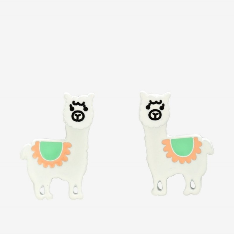 Llama Front Back Earrings