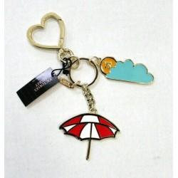Victoria's Secret Beach Umbrella Metal Bag Charm Keychain
