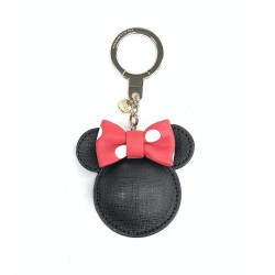 Kate spade New York Minnie Mouse Leather Bag Charm Keychain Keyfob