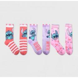 Disney Lilo and Stitch Women Crew Socks Pack of 3 Pairs