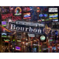 Buffalo Games Down on Bourbon Street New Orleans Jigsaw Puzzle 1000 Piece