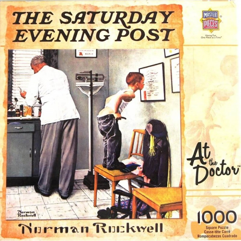 The Saturday Evening Post At the Doctor Puzzle by Norman Rockwell 1000 Pieces