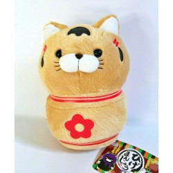 Amuse Ninja Cat Ginger Kokeshi Plush Doll 8-Inch