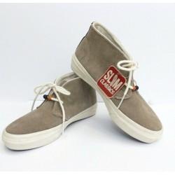 VANS Rhea Khaki Suede Hi-Top Lace-Up Slim Classic Shoes Size Women 5