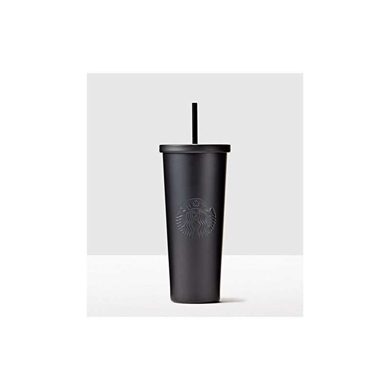 Starbucks Matte Black Stainless Steel Cold Cup  Tumbler Venti 24 fl oz
