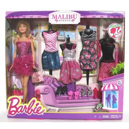 Barbie Malibu Avenue Doll with Fashion Assortment Set