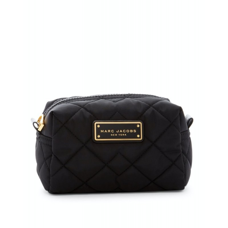 Marc Jacobs Quilted Nylon Black Cosmetic Case Bag