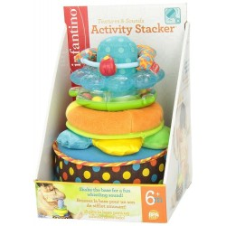Infantino Activity Stacker Textures and Sounds Toy