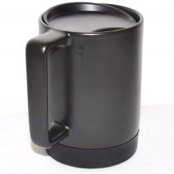 Starbucks Black Ceramic Coffee Mug 14 Fl Oz with Silicon Non-Slip Bottom