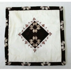 Handmade Fabric Ethnic Black Diamond Indonesian Batik Pillow Cushion Cover