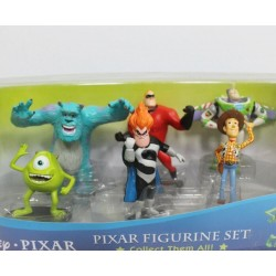 Disney Pixar Figurine Set of Mr Increidble Woody Mike Sulley Buzz Syndrome